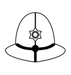 Hat of english police officer icon image vector