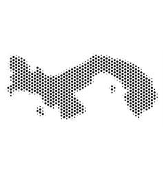 Hex-tile panama map vector