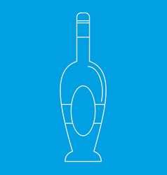 holiday bottle icon outline style vector image