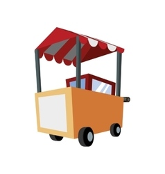 Hot dog cart icon Fast food design vector