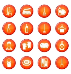 House cleaning icons set vector