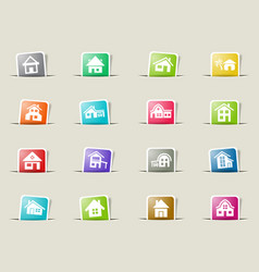 House type icon set vector
