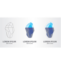 icon of the iceberg vector image