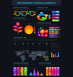 Infographic design elements and charts vector