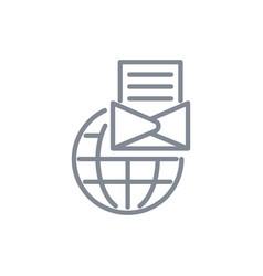 Infographic element globe vector