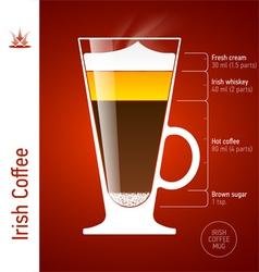 Irish Coffee cocktail vector image
