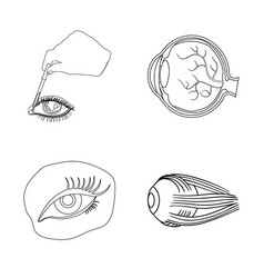 Isolated object of medical and eyeball logo set vector