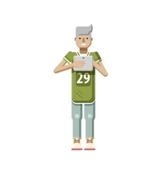 isolated of European blonde man in vector image