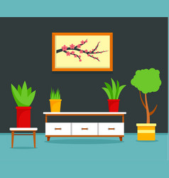 japan living room concept background flat style vector image
