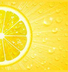 Juicy lemon background vector