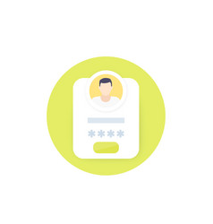 Login and authentication icon vector