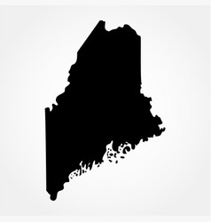 Map us state maine vector
