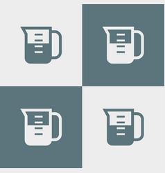 measuring cup icon simple vector image