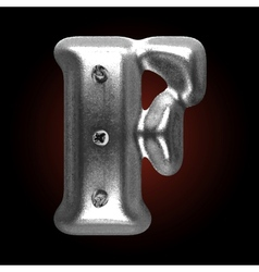 Metal construction figure f vector