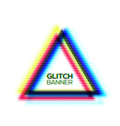 minimal style art glitch texture triangle frame vector image