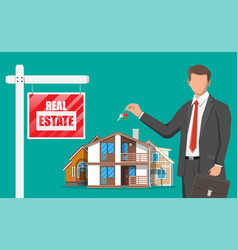 mortgage property and investment vector image