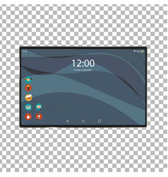 new tablet front and black drawing eps10 vector image