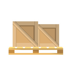 Packing boxes on pallet icon vector