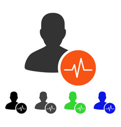 Patient pulse flat icon vector