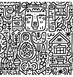 pattern russian images vector image