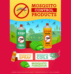 pest control mosquito disinsection repellents vector image