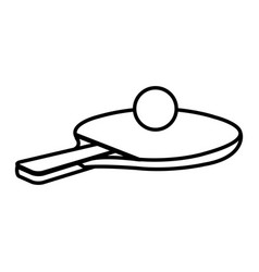 Ping pong rackets and ball vector