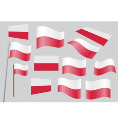 Polish flag vector