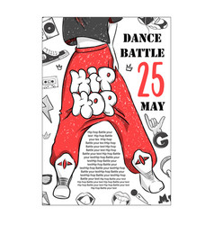 poster hip hop dance battles of legs vector image