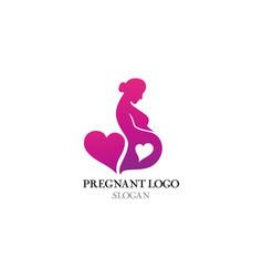 pregnant logo template icon vector image