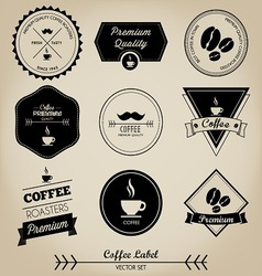 Premium coffee label vector