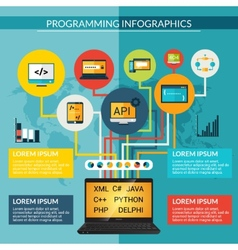 Programming Infographics Set vector image