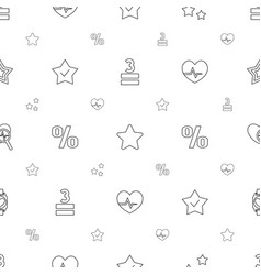 Rate icons pattern seamless white background vector