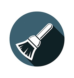 Renovation instrument used in whitewash brush for vector