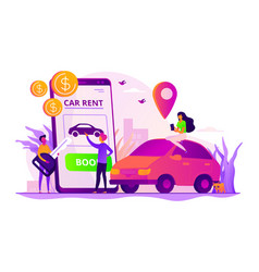 Rental car service concept vector