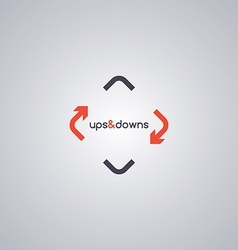 Rotate arrow logo template vector
