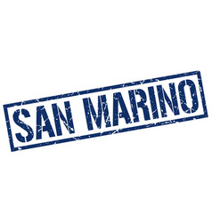 San marino blue square stamp vector