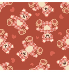 Seamless bear patchwork pattern vector image vector image