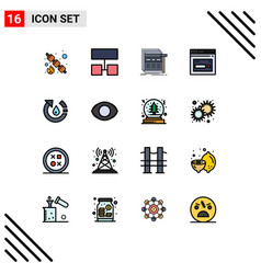 Set 16 modern ui icons symbols signs for drop vector