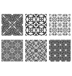 set abstract patterns vector image
