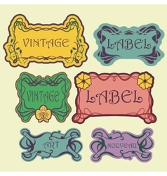 Set of ornate vintage labels vector