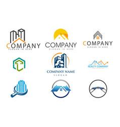 set real estate logo vector image