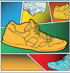 Sneakers in Pop-Art Style vector image