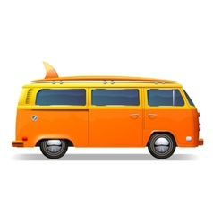 Surf Bus Realistic vector