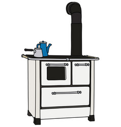 The retro kitchen stove vector