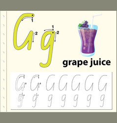 Trace letter g vector