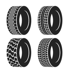 Truck or tractor car tire automobile wheel vector