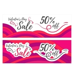 Valentines day sale promo store vector image