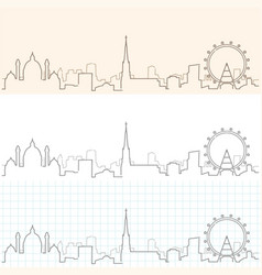 Vienna hand drawn skyline vector