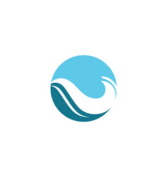water wave beach logo vector image