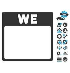 Wednesday Calendar Page Icon With Bonus vector